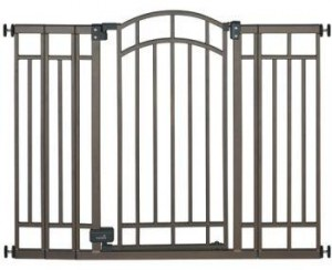 Summer Infant Stylish Sure 'n Secure Extra Tall Decorative Walk-Thru Metal Gate